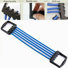 Chest Expander Rubber 5-Spring Pull Stretcher Home Gym Muscle Training Exerciser