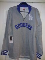 Mitchell Ness LA DODGERS Jacket Cooperston Collection 1/4 Zip Size Large