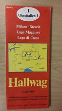 1. Milan And Surrounding Areas: Road And Excursion Map: Hallwag Map (M12)