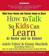 NEW 2 CD How to Talk So Kids Can Learn : At Home and in School
