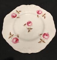 "ANTIQUE COPELAND AND GARRETT PLATE 1833-1847 HAND PAINTED PINK ROSES CERAMIC 9"""