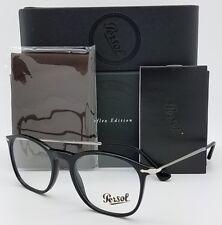 NEW Persol RX Prescription Eyeglasses frame PO3124V 95 50mm Black Reflex Small