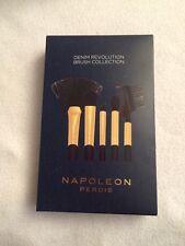 NIB Napoleon Perdis Denim Revolution Brush Collection ~ 5 Beauty Tools w/case