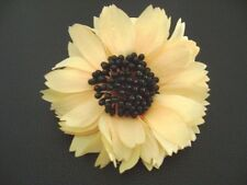 Auth Chanel Vintage Large Fabric Sunflower Pin Brooch
