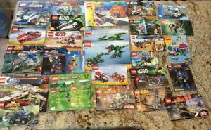 HUGE LOT 32 LEGO MANUALS INSTRUCTION BOOKLETS ONLY MINECRAFT SPONGEBOB STAR WARS