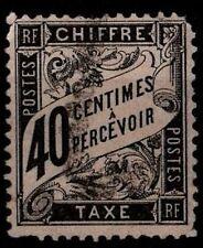 Taxe DUVAL Noir 40c, Oblitéré = Cote 70 € / Lot Timbre France Taxe n°19
