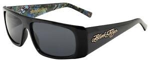 NEW BLACK Flys Sunglasses SLIGHTLY STOOPID FLY SHINY BLACK POLARIZED Smoke LENS