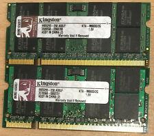 2 x 2GB (4GB) DDR2-800 PC2-6400 800Mhz Kingston KTA-MB800/2G Laptop Memory