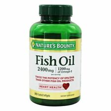 Nature's Bounty Fish Oil 2400 mg Softgels, 90 count EXP 12/2021