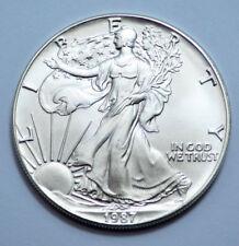 1987 American Silver Eagle Dollar 1 OZ Fine Silver  UNC MS Condition!