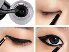 WOMEN Waterproof Eye Liner Eyeliner Gel Makeup Cosmetic + Brush Black ONE SET