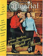Publicite ADVERTISING 024 1955 Armorial velvet velcorex jacket ti club