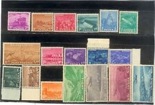 INDIA 1955 5TH ANNI OF REPUBLIC 5 YEAR PLAN COMPLETE SERIES SET OF 18 STAMPS MNH