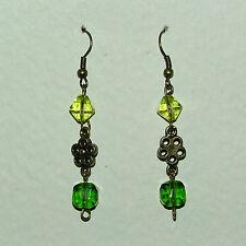 Drop/Dangle Yellow Gold Flowers & Plants Costume Earrings