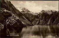 Königssee Oberbayern alte AK Bayern ungelaufen~1920 Panorama mit Schönfeldspitze