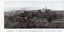 21  VITTEAUX VUE GENERALE IMAGE 1924 OLD PRINT