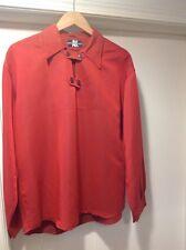 Austin Kane American Male Dressy Casual Shirt Button Long-Sleeved Orange EUC!!
