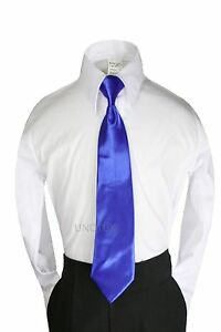 23 Color Satin Clip-on Neckties Boys Suits Tuxedos Party Formal size: S-XL(S-20)