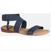 New Cloudwalkers Wide Width Women's Criss Cross Stretch Sandal Size 8.5 Blue