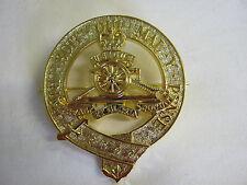 19 Reggimento Pipes e Bidoni Bustina Spilletta Per Cappelli 7 cm x 6 cm Ottone