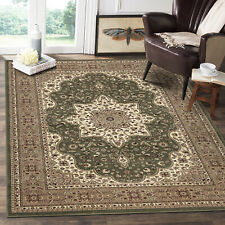 Extra Large Traditional Classic Floral Green Rug Living Room Bedroom New Carpet