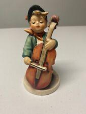 """""""Sweet Music"""" Goebel Hummel Figurine  #186 boy with cello W. Germany bee"""