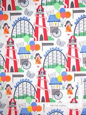 Amusement Park Rides Carnival Fair Cotton Fabric Michael Miller Fun Fair- Yard