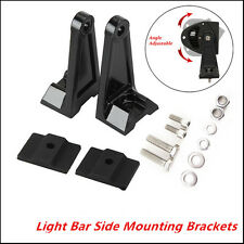 1 Pair SUV LED Work Light Bar Side Mounting Bracket Heavy Duty Die-cast Aluminum