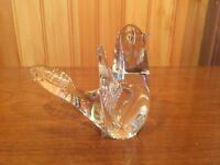 Vintage F.M. Ronneby Art Glass Dove Figurine Paperweight Konstglas Sweden