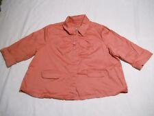 Live A Little LAL Blazer Size 3X Salmon Big Buttons Jacket Cotton Spandex