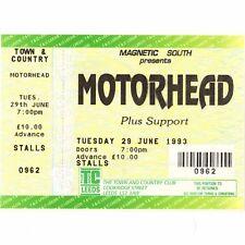 MOTORHEAD Concert Ticket Stub LEEDS UK 6/29/93 TOWN & COUNTRY MARCH OR DIE TOUR
