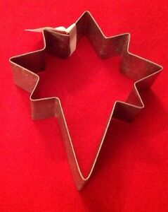 Bethlehem Star Cookie Cutter Galvanized Steel Holiday Nativity NWT 4.5""