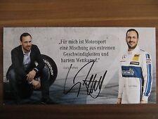 Handsignierte Autogrammkarte AK *GARY PAFFETT* Mercedes AMG DTM Saison 2016