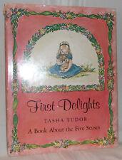 Tasha Tudor FIRST DELIGHTS First ed 1966 Hardcover Dj Children Illustrated Nice!