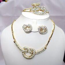 Rose Gold Plated Rhinestone Costume Jewellery Sets