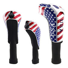 3pcs USA Golf Driver Fairway Woods Head Covers for Taylormade Callaway Hybrid UT
