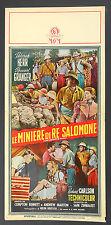 LOCANDINA, LE MINIERE DI RE SALOMONE King Solomon's Mines KERR, GRANGER POSTER