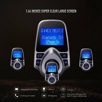 FM Transmitter Bluetooth Car Kit MP3 USB Charger Handsfree for iPhone 7 6S 6 UK