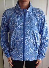Lululemon Size 8 Travel to Track Jacket Blue White Coat Run Define Beachy Floral