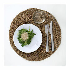 Ikea IHÅLLIG ( IHALLIG ) Stylish Place mat Natural/seagrass 37cm kitchen UK-B786