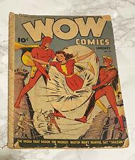WOW Comics. #21 1944.Mary Marvel.Commander Yank.Fawcett USA.
