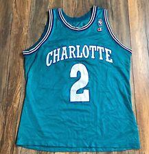 Authentic Champion Charlotte Hornets Larry Johnson Size 44 Jersey NBA