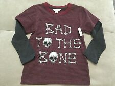 Baby Boy Pumpkin Patch Halloween Shirt Size 3T Burgundy Bad To The Bone Soft