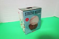Baseball Stress Relief Ball With Mitt Stand New In Open Original Box