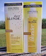 2 NEW JOHN FRIEDA SHEER BLONDE GO BLONDER CONTROLLED LIGHTENING SPRAY ** NEW **