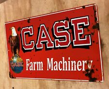 CASE Farm Machinery Equipment Distressed Looking Aluminum Sign Tractor