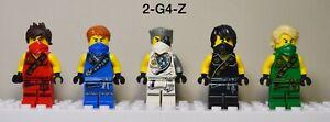 Lego Ninjago Tournament Robe Minifigures Lot of 5 Kai Cole Zane Lloyd Jay