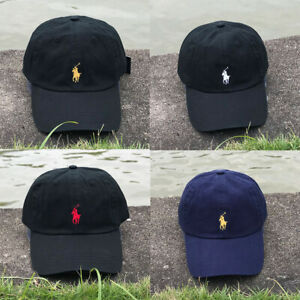 RL Polo Baseball Cap Embroidery Small Pony Adjustable Hat Pink Black Navy Gold