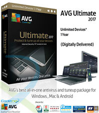 AVG ULTIMATE 2017 - 1 Year Unlimited Devices | AntiVirus / PC Tuneup (Download)