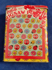 "1999 Coca-Cola 75 Pc Jigsaw Puzzle 7""x9"" In Tin Flowers - Coke - Sealed"